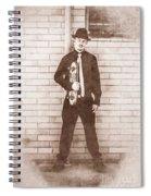 Vintage Male Skateboarder Spiral Notebook