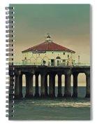 Vintage Manhattan Beach Pier Spiral Notebook