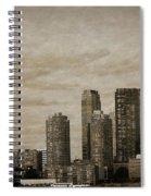 Vintage Manhattan Skyline Spiral Notebook