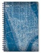 Vintage Manhattan Street Map Blueprint Spiral Notebook