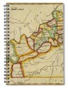 Map Of Kentucky 1812 Spiral Notebook