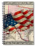 Vintage Map Of Texas 2 Spiral Notebook