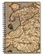Vintage Map Of Wales 1633 Spiral Notebook