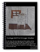 Vintage Maytag Wringer Washer Spiral Notebook