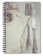 Vintage Menu Cards Knife And Fork Spiral Notebook