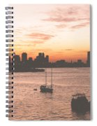 Vintage Miami Skyline Spiral Notebook