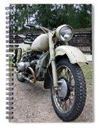 Vintage Military Motorcycle Spiral Notebook