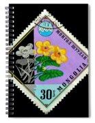 Medicinal Plants - Vintage Mongolia Stamp Spiral Notebook