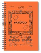 Vintage Monopoly Game Patent Spiral Notebook