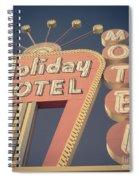 Vintage Motel Sign Holiday Motel Square Spiral Notebook