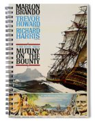 Vintage Mutiny On The Bounty Movie Poster 1962 Spiral Notebook