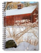 Vintage New England Barn Portrait Square Spiral Notebook