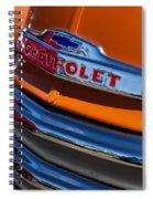 Vintage Orange Chevrolet Spiral Notebook