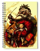 Vintage Original Coca Cola Red Santa Claus Poster Spiral Notebook
