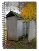 Vintage Outhouse Alongside A Historical Country School In Southwest Michigan Spiral Notebook