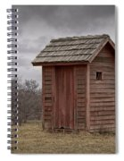 Vintage Outhouse Behind A Historical Country School In Southwest Michigan Spiral Notebook