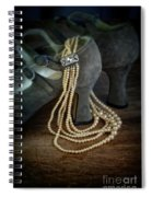 Vintage Pearls And Shoes Spiral Notebook