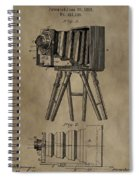 Vintage Photographic Camera Patent Spiral Notebook