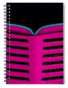 Vintage Pink Grille Spiral Notebook