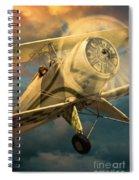 Vintage Plane In Flight Spiral Notebook