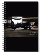 Vintage Planes Silhouette Spiral Notebook