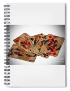 Vintage Playing Cards Art Prints Spiral Notebook
