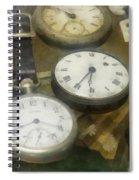 Vintage Pocket Watches Spiral Notebook