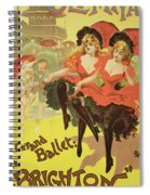 Vintage Poster   Brighton Spiral Notebook