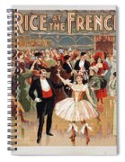 Vintage Poster Fanny Rice At The French Ball Spiral Notebook