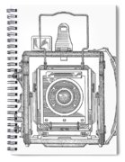 Vintage Press Camera Patent Drawing Spiral Notebook
