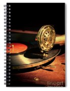 Vintage Record Player Spiral Notebook