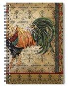 Vintage Rooster-d Spiral Notebook