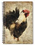 Vintage Rooster Spiral Notebook