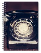 Vintage Rotary Phone Spiral Notebook