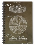 Vintage Roulette Wheel Patent Spiral Notebook