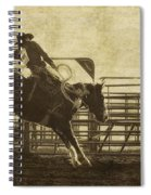 Vintage Saddle Bronc Riding Spiral Notebook