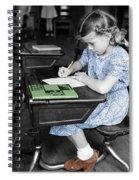 Vintage Schoolgirl Spiral Notebook