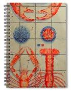 Vintage Seafood Sign 3 Spiral Notebook