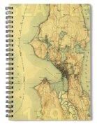 Vintage Seattle Map Spiral Notebook