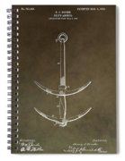 Vintage Ship's Anchor Patent Spiral Notebook