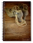 Vintage Shoes And Pearls Spiral Notebook