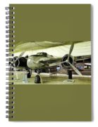 Vintage Silver Bomber Airplane Spiral Notebook