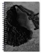 Vintage Skeleton Keys_tassled Bw Spiral Notebook