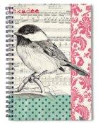 Vintage Songbird 3 Spiral Notebook