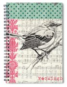 Vintage Songbird 4 Spiral Notebook