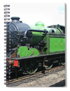 Vintage Steam Train In Green  Spiral Notebook