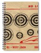 Vintage Target Card Spiral Notebook