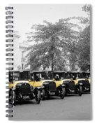 Vintage Taxis 3 Spiral Notebook