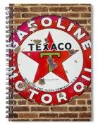 Vintage Texaco Gasoline Sign Dsc07195 Spiral Notebook