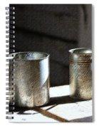 Vintage Tin Cups Spiral Notebook